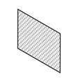isometric fence isolated on white no solid fence vector image vector image
