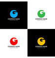 letter g in circle logo icon flat design vector image vector image