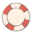 lifeguard float isolated icon vector image vector image
