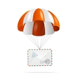 Mail delivery Parachute vector image vector image