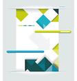 Modern web design vector image vector image