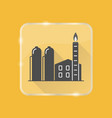 natural gas plant silhouette icon in flat style on vector image vector image