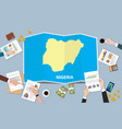 nigeria africa economy country growth nation team vector image vector image