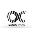 oc o c lines letter design with creative elegant vector image
