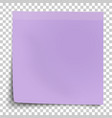 office violet paper sticker with bent lower left vector image vector image