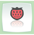 outline strawberry fruit icon Modern infographic vector image vector image