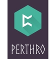 Perthro rune of Elder Futhark in trend flat style vector image vector image
