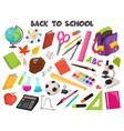 school objects collection vector image vector image