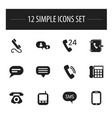 Set of 12 editable device icons includes symbols