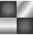 Set Of Metal Texture Background vector image