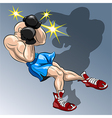 Shadow boxing vector image vector image