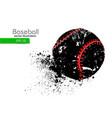 silhouette a baseball ball vector image