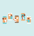 smartphone chat bubbles mobile application vector image vector image
