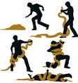 Snake wrestler vector image vector image