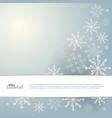 snowfall frozen greeting card winter vector image vector image
