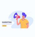 social media and internet marketing loudspeaker vector image