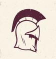 spartan helmet logo element vector image vector image