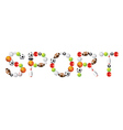 sport word vector image