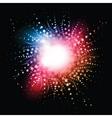 star burst effect vector image vector image
