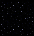 starry night sky square on black background vector image vector image