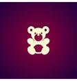 Teddy bear plush toy flat icon vector image vector image