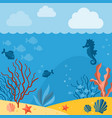 underwater background background with marine vector image