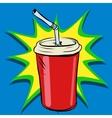 Cola beaker tube fast food drink vector image