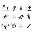 Superhero elements vector image