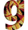 3d font letter g vector image