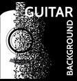 abstract background with guitar and notes vector image vector image