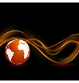 Abstract black orange technology background vector image vector image
