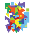 abstract colorful geometric pattern vector image