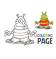 alien cartoon coloring page vector image vector image