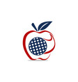 apple golf ball vector image vector image