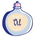 Body Care Oil Icon Hand Drawn vector image