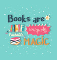 books are a uniquely portable magic quote vector image vector image