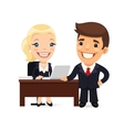 Boss and Secretary Planning Business Day vector image vector image