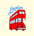 british bus in london and the gentlemen symbols vector image vector image
