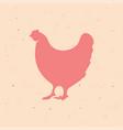 chicken hen vintage logo retro print poster vector image vector image