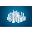 City with buildings and skyscrapers vector image vector image