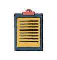 clipboard ckecklist report business office element vector image
