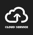 cloud service pictograph vector image