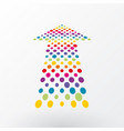 colored arrows composition of dots in perspective vector image vector image