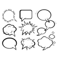 comic effects set vector image vector image