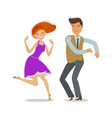 couple dancing dance party concept cartoon vector image vector image