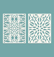 die and laser cut decorated panels with vector image vector image