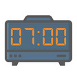 digital clock colorful line icon electronic alarm vector image vector image