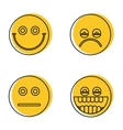 Emoji emoticons icons in line style vector image