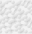 eps abstract white hexagon seamless pattern vector image
