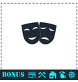 festive masks icon flat vector image